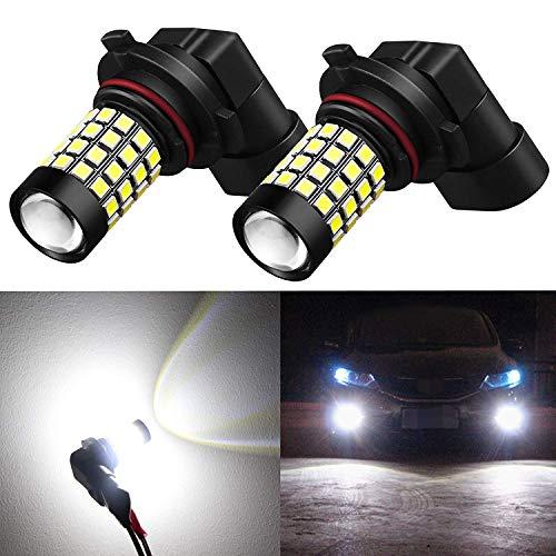 2008 Chevrolet Corvette Replacement - Alla Lighting 2000Lm 9145 H10 LED Fog Lights Bulbs 2835 51-SMD Super Bright H10 9145 LED Bulbs 12V 9140 9045 9145 Fog Light Replacement for Cars, Trucks, 6000K Xenon White