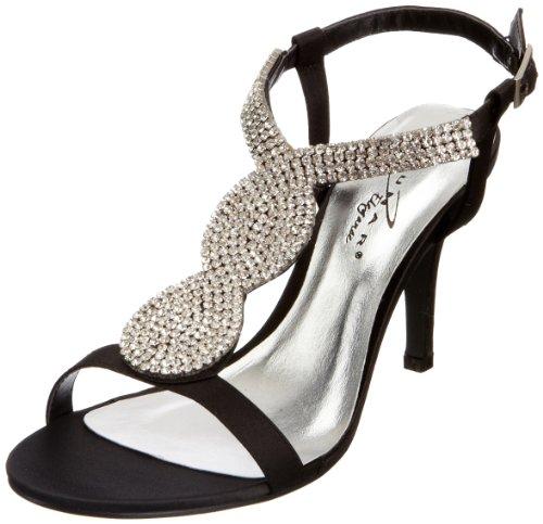 Lunar Flr146 - zapatos de tacón de material sintético mujer negro - negro