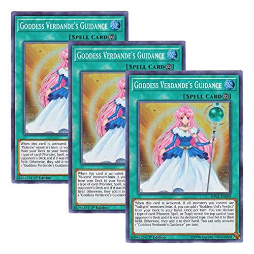 3 x Goddess Verdande/'s Guidance SHVA-EN009 - Super Rare 1st Edition