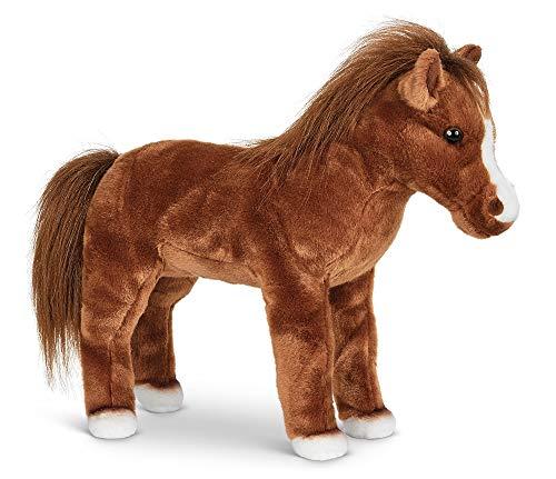 Bearington Blaze Plush Stuffed Animal Brown Horse 13.5 inches -