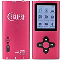 Eclipse 180 PRO 4GB MP3 MP4 Digital Music 1.8 LCD Video Player & Voice Recorder Camera and FM Radio - Red
