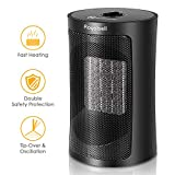 Royalsell 1500W Quick Heat Ceramic Space Heater with Safety Tip Over Switch Review