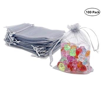 Amazon.com: ATCG 200 bolsas de organza con cordón de 5.0 x ...