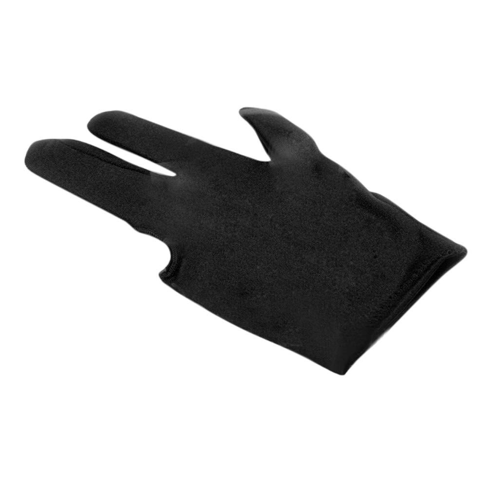 Glumes Billiard Glove Elastic Lycra 3 Fingers Show Gloves with Billiard Shooters Carom Pool Snooker Cue Sport - Professional Spandex Wear on The Right or Left Hand for Men & Women