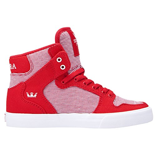 Supra Boys Vaider Shoes Size 13 Red - White (Supra High Tops Kids)