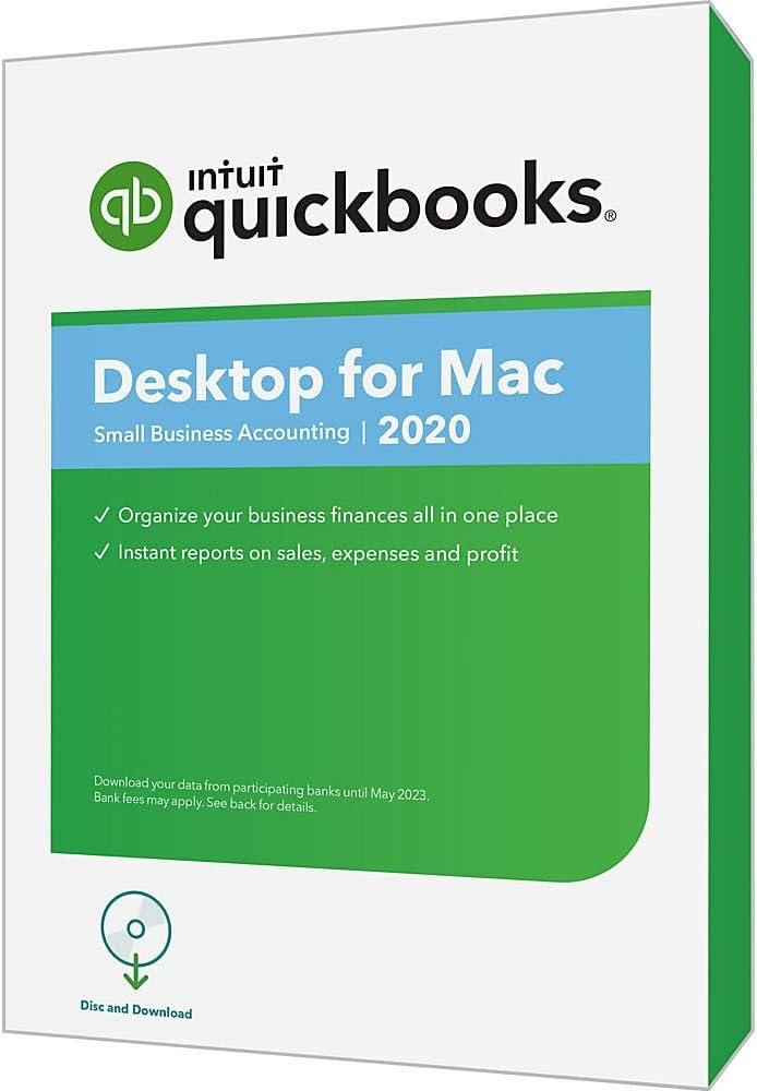 Intuit QuickBooks Desktop for Mac 2020, Disc & Download 517fjFy5brLSL1000_