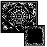 Tarot Cloth and Moon Tapestry Bundle