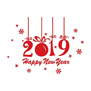 Amazongodtoon 新年 正月 飾り ギフト ウォールステッカー 2019 壁紙