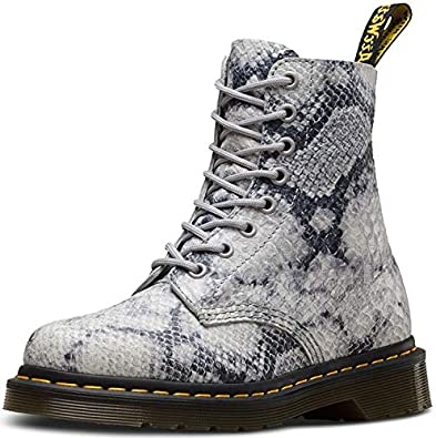 1230797d616  Dr Martens Pascal Snake Light Grey Asciano 8 Eye Womens Leather Boots   Amazon.co.uk  Shoes   Bags