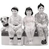 Westland Giftware The Little Rascals Magnetic Little Rascals Gang Salt and Pepper Shaker Set, 4-Inch