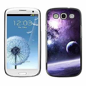 Shell-Star ( Purple Galaxy ) Fundas Cover Cubre Hard Case Cover para Samsung Galaxy S3 III / i9300 i717