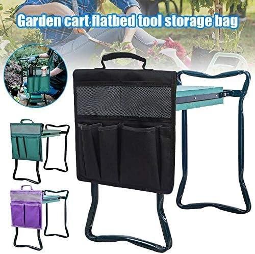 XSHH Garden Kneeler Tool Bag, Garden Kneeler Tool Oxford Taschen 12,2 * 11,8 '' mit Griff für Kniestuhl (Dunkelgrün)