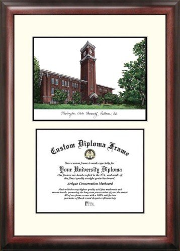 (Washington State University Scholar Framed Lithograph with Diploma)