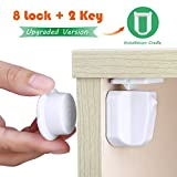 Baby Safety Magnetic Locks Set Cabinet, Drawers or Cupboard Childproof lock with Installation Cradle - [Upgraded Version] 8 Locks + 2 Keys No Tools Needed, No Drilling