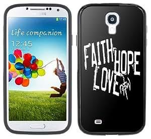 Faith Hope Love Samsung Galaxy S4 Black Bumper Hard Plastic Case