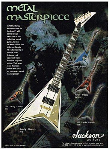 Randy Strings Rhoads - Jackson Guitars - RR3 - RX100 - RR5 - RR1 - RR1T - Randy Rhoads - 2003 Advertisement