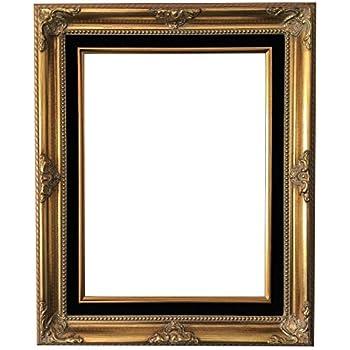 736974353660 West Frames Estelle Antique Wood Baroque Picture Frame (Gold Black  Velveteen Liner