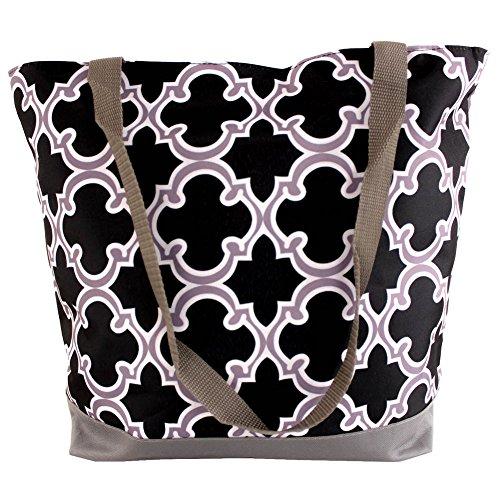 SLM Printed Nylon Shoulder Tote Bag-Hollywood