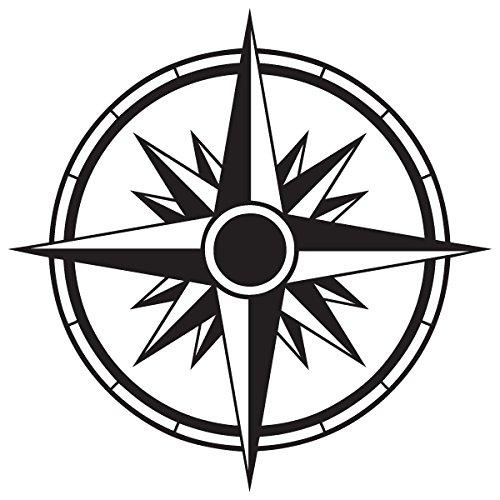 (Compass Tribal Rose Nautical Star Car Window Vinyl Decal Sticker (CS-02) (9