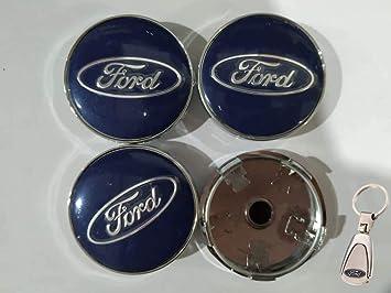 4X Tapacubos Ford 60 mm Tapas centrales con Azul KA Kanda Fusion Fiesta Focus Llavero Mondeo Galaxy S-MAX C-MAX Focus Otros Modelos: Amazon.es: Coche y moto