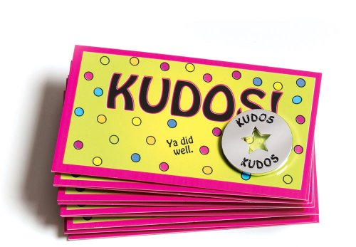 Kudos Tokens and Cards Combo (Set of 10 Each)