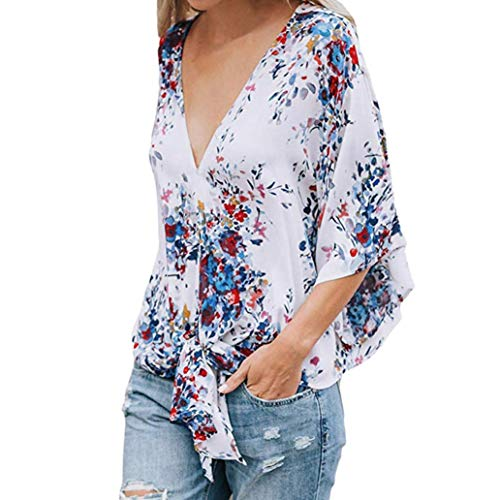 Grande Pullover Blouse Col Plage Manches Fille Casual Chemisier XL Bohme Mode Blanc Chic Shirt Femmes Longues Vtements QinMM Tops Demi T Batwing Lache Taille S Pas Hauts Cher Lacet g71aP