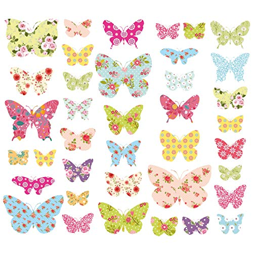 Decowall DW-1408 Patterned Butterflies Kids Wall Stickers Wall Decals Peel...