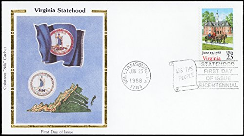 (1988 Virginia Colorano First Day of Issue Cover With Silk Cachet Scott 2345)