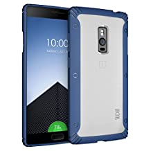 OnePlus 2 Case - TUDIA Scratch Resistant LUCION Lightweight Hybrid Matte Back Panel Protective Cover for the OnePlus Two (Blue)