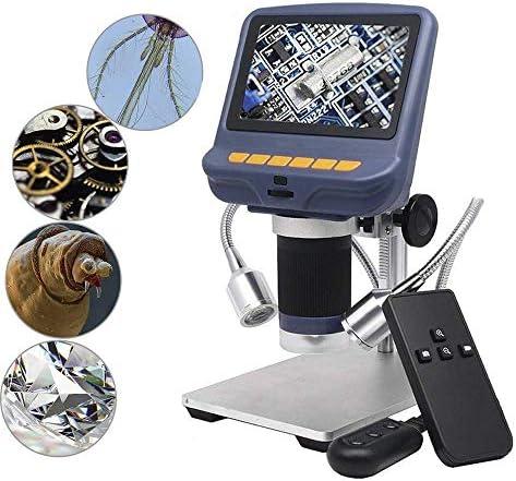 10X-220X倍率ズーム付き4.3インチUSB顕微鏡、電話修理用カメラビデオレコーダーはんだ付けツールジュエリー評価生物学的使用、8 LED調整可能ライト