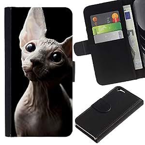 All Phone Most Case / Oferta Especial Cáscara Funda de cuero Monedero Cubierta de proteccion Caso / Wallet Case for Apple Iphone 6 // Sphynx Donskoy Peterbald Hairless Cat