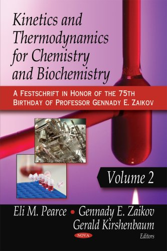 Kinetics and Thermodynamics for Chemistry and Biochemistry: A Festscript in Honor of the 75th Birthday of Professor Genn