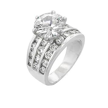 J Goodin juventud Trendy matrimonio clásico anillo de compromiso de boda tamaño 10: Amazon.es: Juguetes y juegos