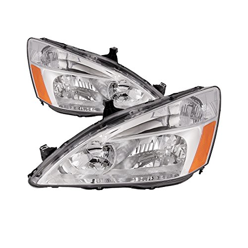 Honda Accord Sedan/Coupe Headlights Headlamps Driver/Passenger Pair (Honda Accord Coupe Headlight)