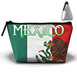 TXNG Mexican Flag Creative Large Capacity Trapezoidal Storage Bag Organizer Portable Pouch For Unisex