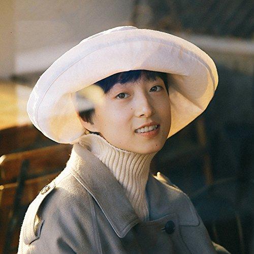 失敗秋隠GLJF 帽子男性バイザー帽子釣り男性の太陽帽子レジャー屋外UV保護帽子ブラック (色 : 白)