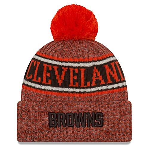 うなずく体現する上級ニューエラ (New Era) NFL サイドライン Reserve ビーニー帽 クリーブランド?ブラウンズ (Cleveland Browns)