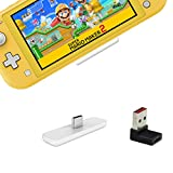 GuliKit Route Air Bluetooth Adapter for Nintendo Switch/Switch Lite, Dual Stream Bluetooth Wireless Audio Transmitter with aptX Low Latency Connect Your Bluetooth Speakers Headphones - White (Color: White, Tamaño: Route Air White)