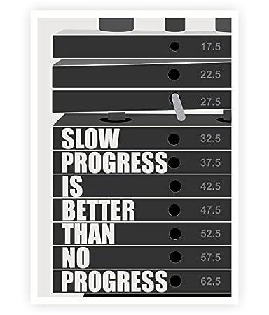 Amazon.com: progreso lento es mejor Gimnasio Levantamiento ...