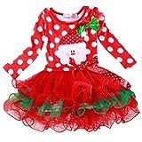 Toddler Baby Girls Santa Claus Print Dresses Long