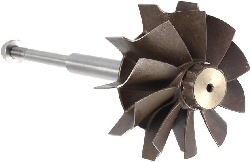 Turbine Shaft,10 Blades Turbo Turbine Shaft Wheel Fit for Holset HX40 HX40W 67x76mm//2.6x3in