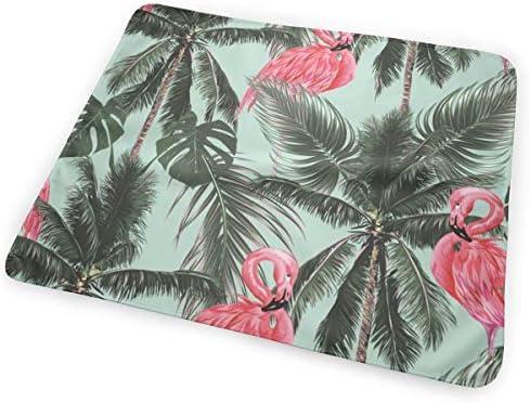 Tropical Palm Tree Pink Flamingo 小さいながらも軽くて柔らかく快適な折り畳みが簡単なハイエンドのファッションシンプルなポップ絶妙なおむつパッド