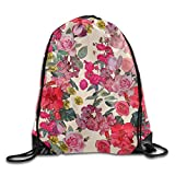 ZQWEOO Antique Floral Print A Bag Print Lovely Beautiful