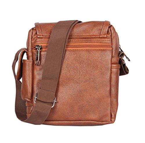 Handcuffs Mens Bag Messenger Bag Leather Shoulder Bags Travel Bag Crossbody Bags for Men Work Business - 10 Inch