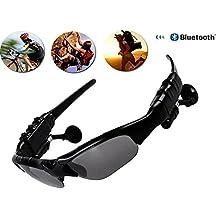 UniquQ Wireless Bluetooth Sunglasses Headset Sunglasses Sports Headphone Earphone Handsfree for iPhone 8 /7 (black)