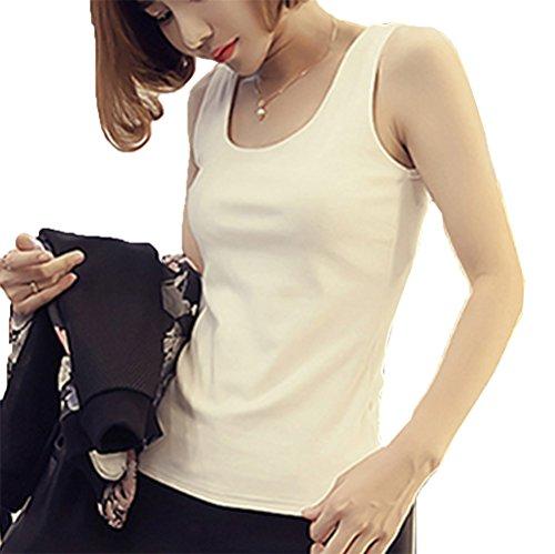 [美しいです] 夏 レディーズ 棉 ファッション セクシー ベスト 学生 オリジナル 欧米風 オフショルダー リブ ホルターネック ノースリーブ スレンダーライン ライニング チョッキ