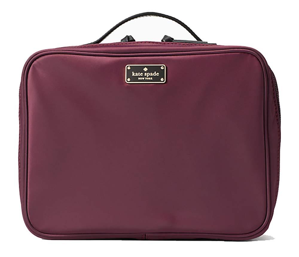 Kate Spade New York Large Wilson Road Martie Travel Cosmetic Case Bag (Deep Plum)