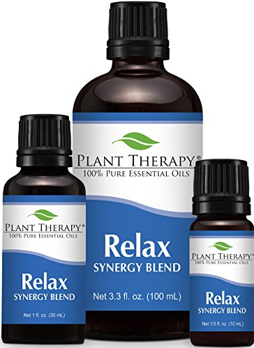 Relax Synergy (Mental Relaxation) Essential Oil Blend. 100% Pure, Undiluted, Therapeutic Grade. (Blend of: Lavender, Marjoram, Patchouli, Mandarin, Geranium and Chamomile)