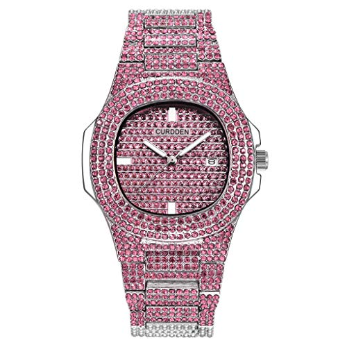 (HunYUN Brand Luxury Women Dress Watch Rhinestone Ceramic Crystal Quartz Watches)