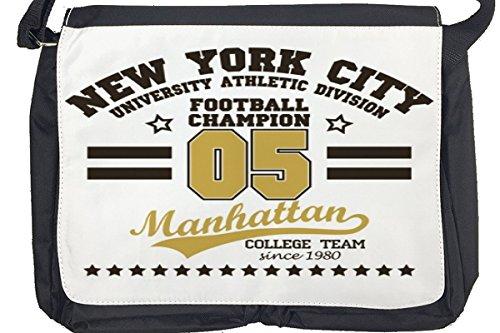 Borsa Tracolla Retro Calcio New York Stampato